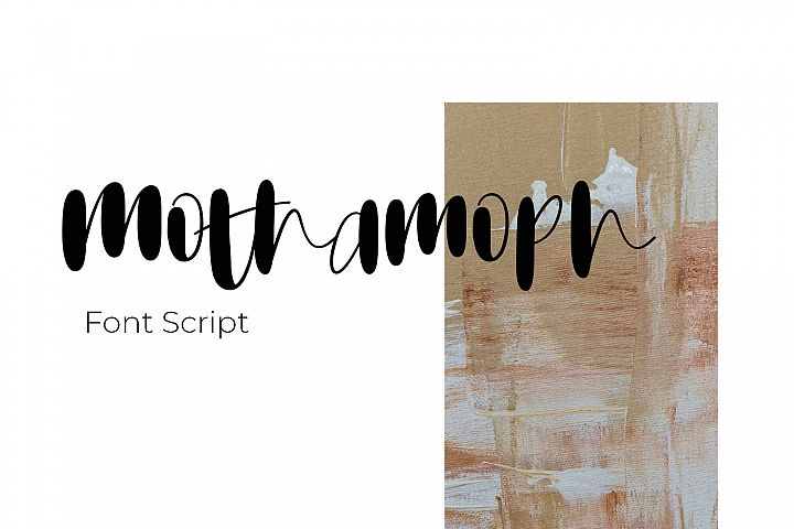Mothamoph - Font Script
