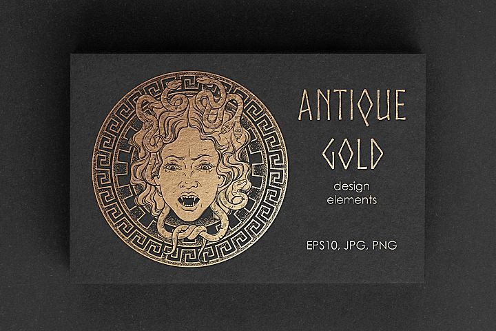 Antique Gold. Design elements