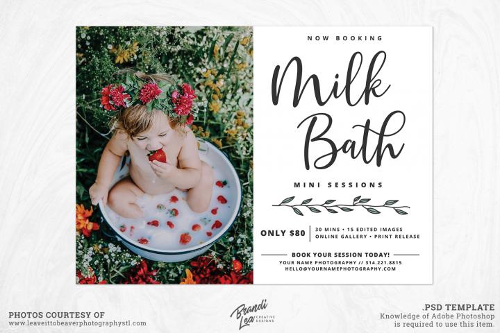 Milk Bath Mini Session Template