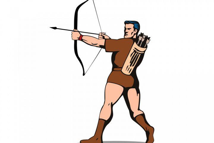 Archer Shooting Arrow