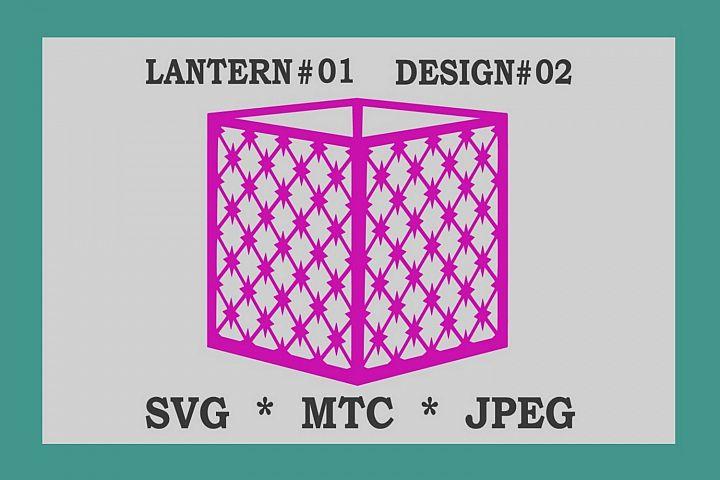 SVG Criss Cross Star Design #02 CUT FILE 3D Paper Lantern 01
