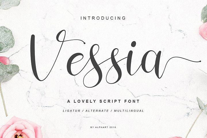 Vessia a lovely script font