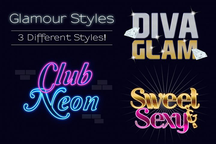 Glamour Styles Text Effects Pack
