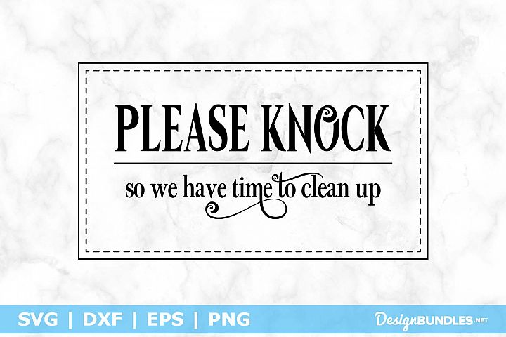 Please Knock, so we have time to clean up SVG File