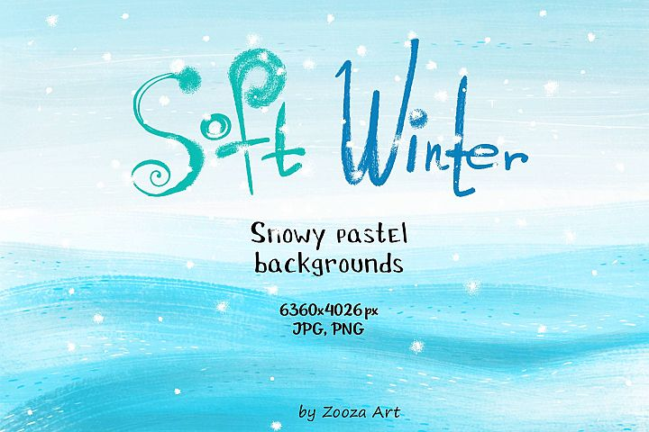 Soft winter snowy backgrounds