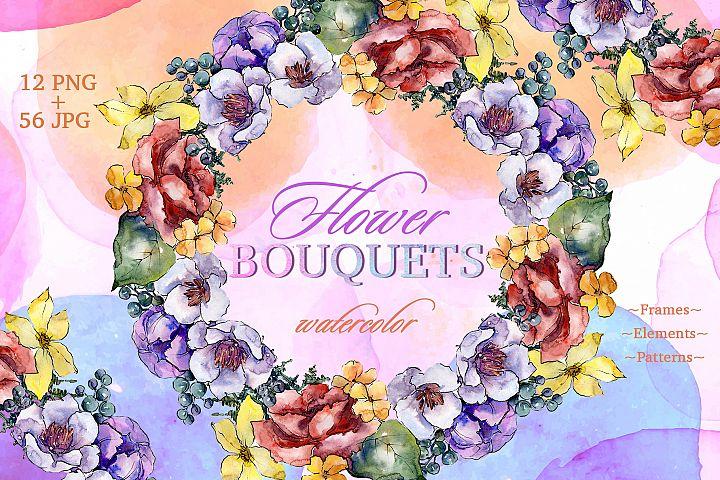 Bouquets Surprise Watercolor png