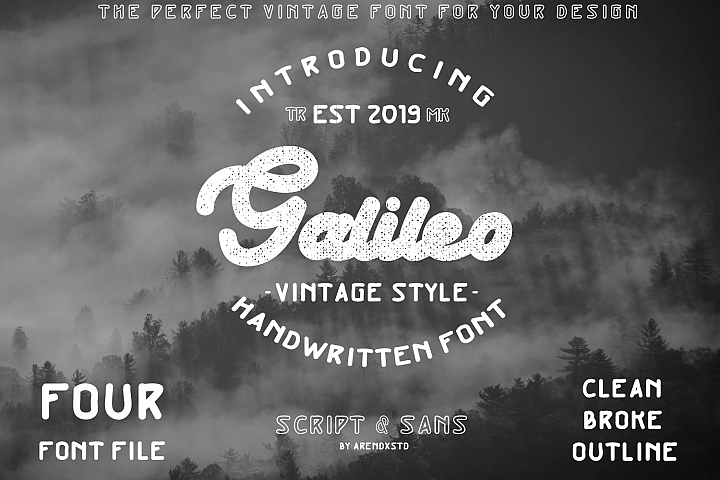 Galileo - Vintage Style - Font Duo