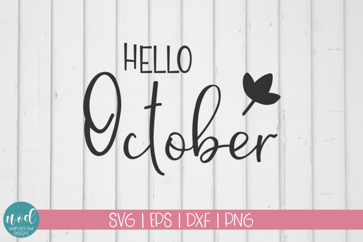 Hello October SVG File