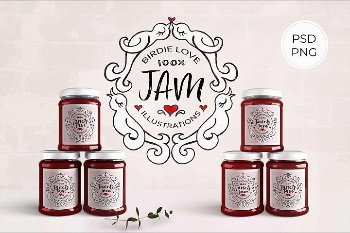 Birdie Love JAM Illustrations and Labels