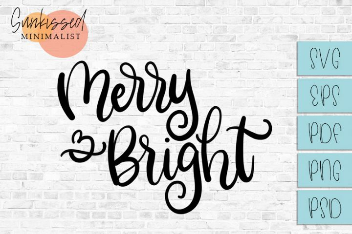 Merry & Bright Christmas SVG