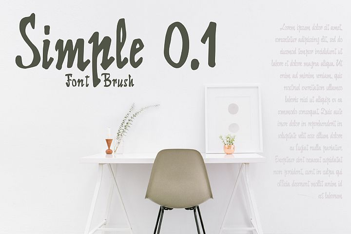 Simple 0.1 Font Brush