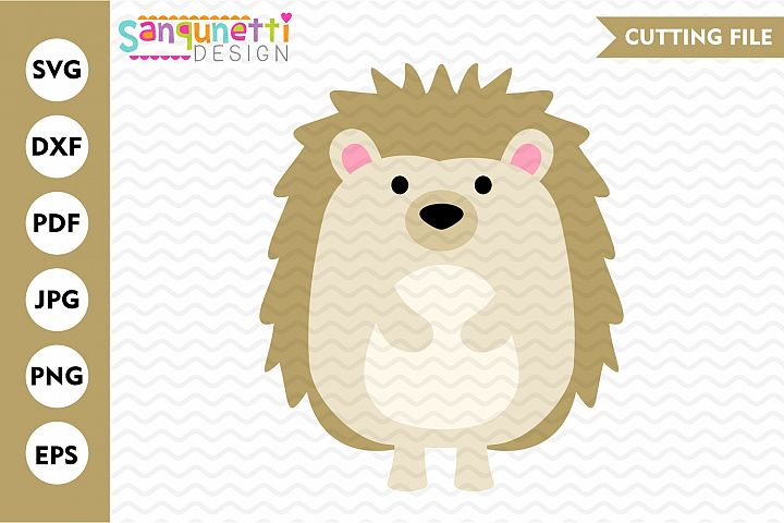 Hedgehog svg file. woodland cutting file