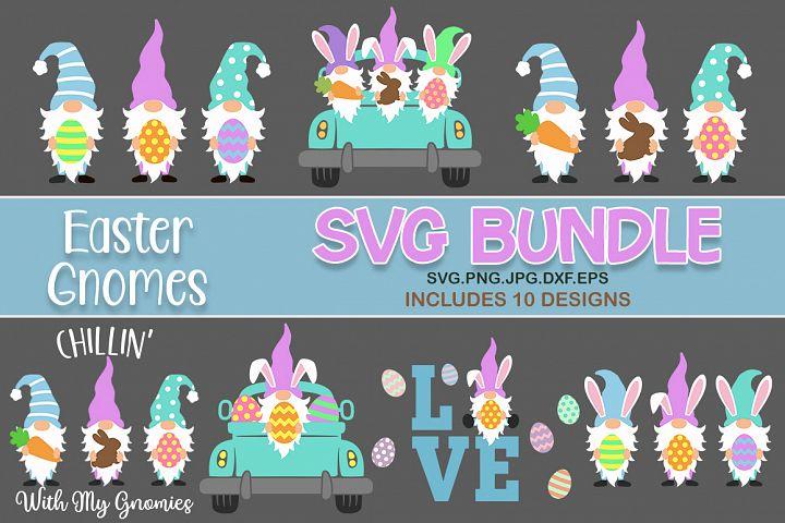 Easter gnomes bundle svg, easter gnome svg, easter svg