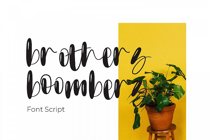 Brothers boombers - Font Script