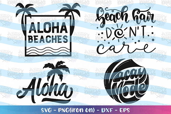 Beach Bundle svg Summer Bundle svg Palm Trees Aloha Beach