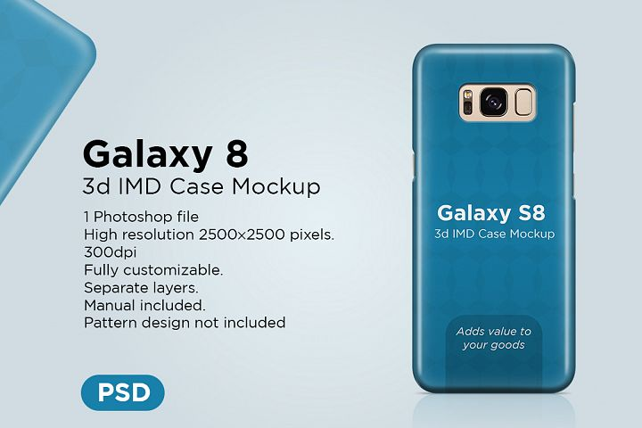 Samsung Galaxy S8 3d Phone Case Mockup