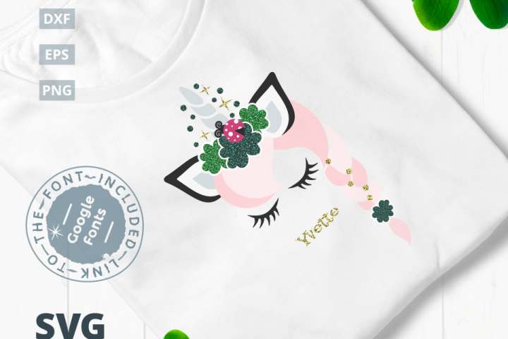 St. Patricks Day Unicorn SVG Cut File|SVG |DXF |EPS |PNG