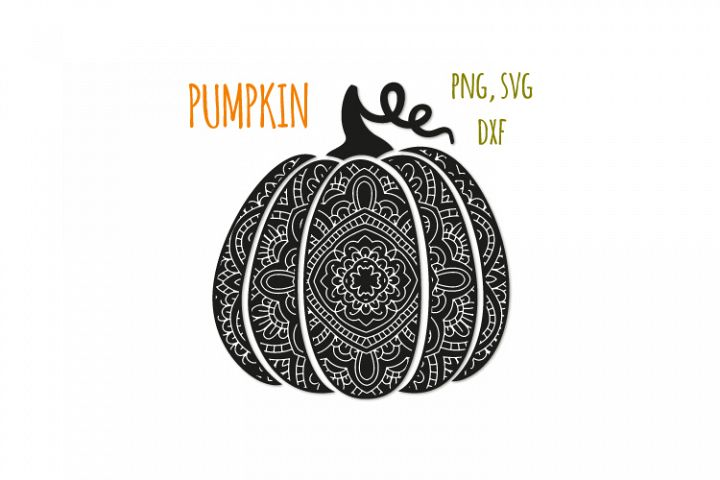 Bohemian pumpkin svg. Fancy pumpkin