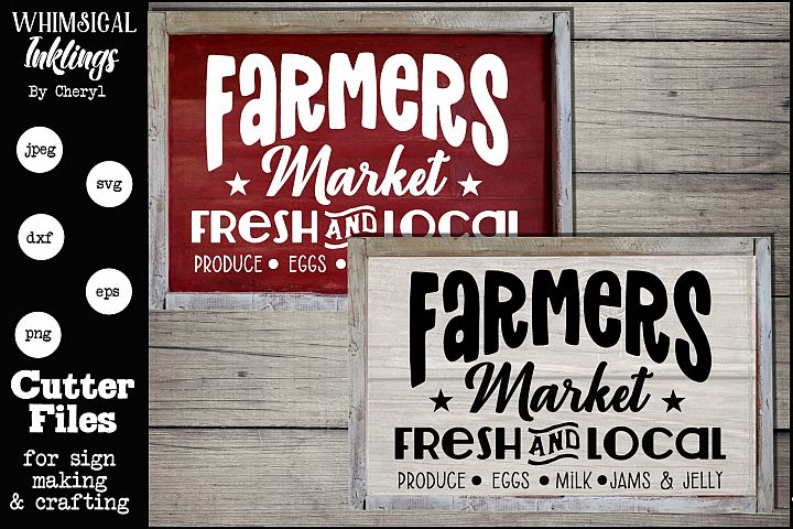 Fresh Farmers Market SVG