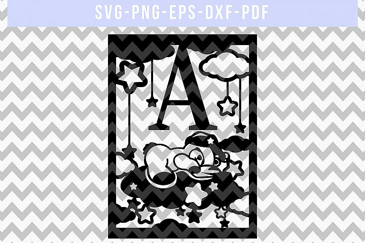 Nursery SVG Cut File, Newborn Papercut, Baby Paper Art, DXF