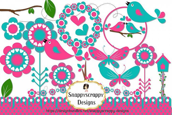 Pretty Bird Clipart