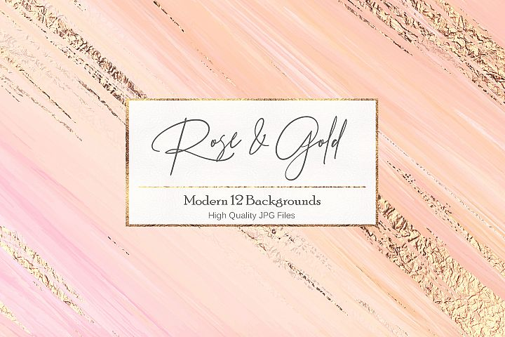 Rose Gold Watercolor Textures