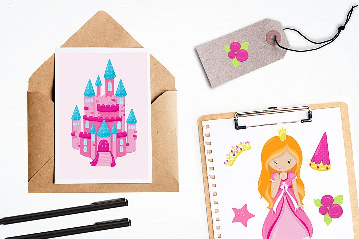 Fairytale Princess  graphics and illustrations - Free Design of The Week Design 3