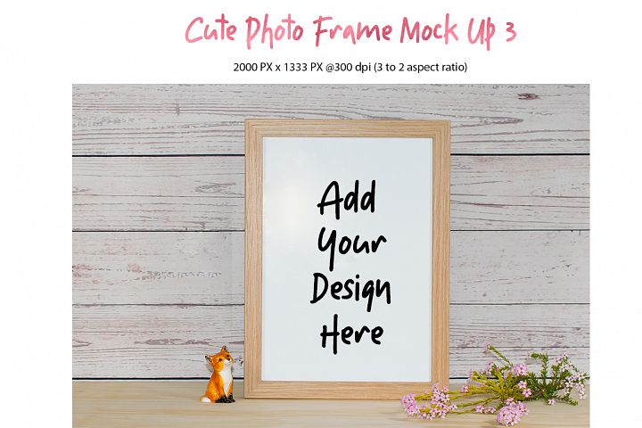 Cute Photo Frame Mock Up 3 jpg