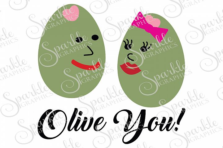 Olive You Cut File | SVG, EPS, DXF, PNG