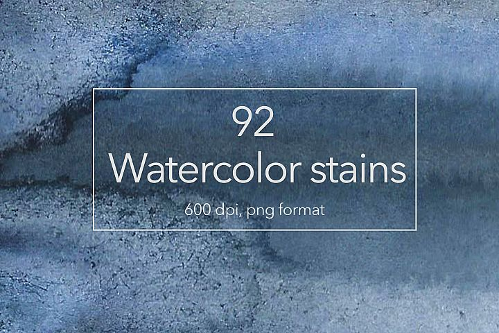 92 Watercolor stains