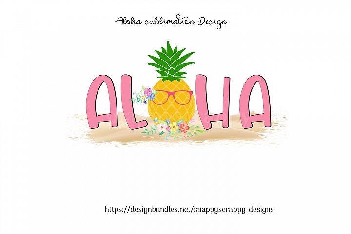 Aloha Sublimation Design