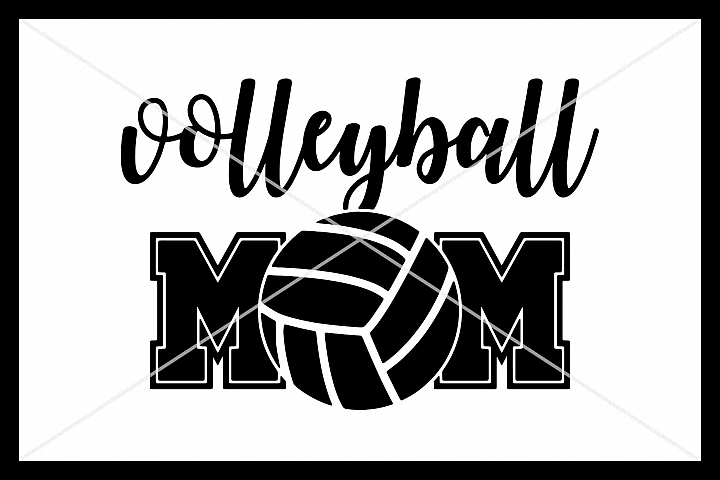 Volleyball Mom, SVG, Silhouette Cameo, Cricut, Cut