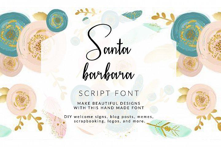 Santa Barbara Stylish Script Font