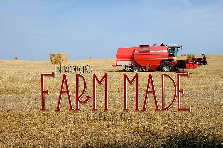Farm Made - A Farmhouse Style Font
