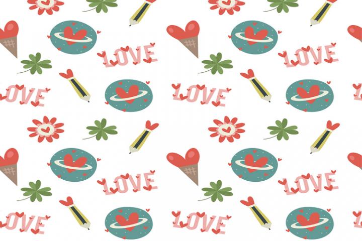 Cartoon style love background vector