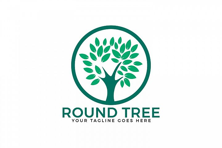 Round Tree Logo Design.