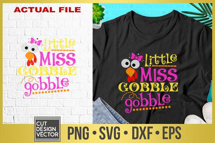 Little Miss Gobble Gobble SVG