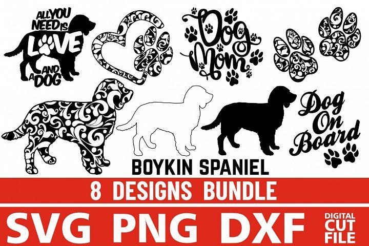8x Boykin Spaniel Bundle svg ,Dog Shapes svg, Silhouettes