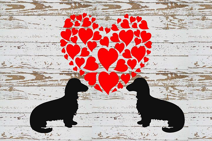 Dachshund LOVE svg and graphic s file