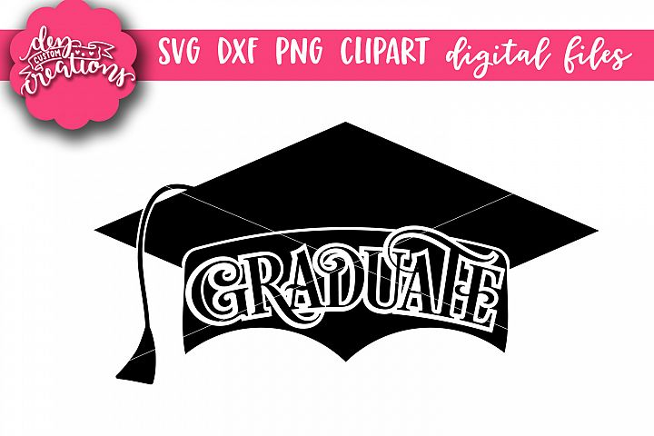 Graduate Grad Cap - SVG DXF PNG Digital files
