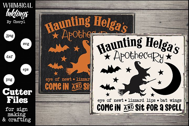 Haunting Helgas Apothecary-Halloween SVG