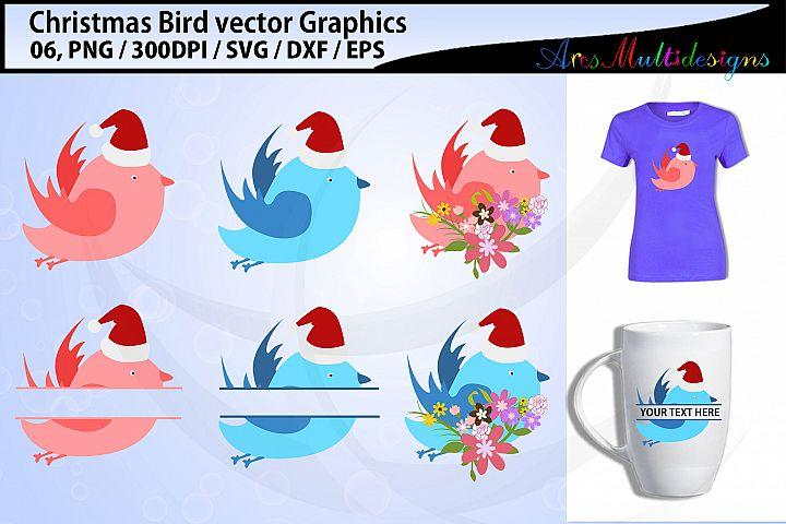 Christmas Birds svg / Christmas love birds svg / floral bird