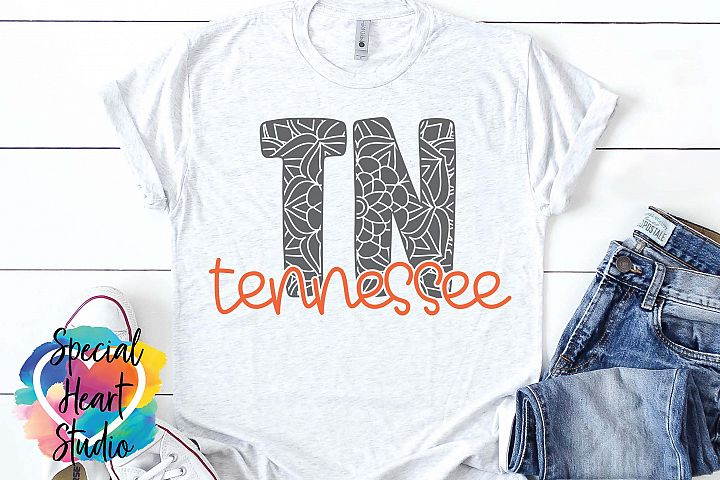 Tennessee Mandala - A State SVG Cut File