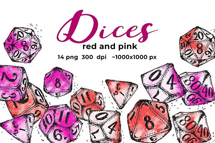 Red and pink dices