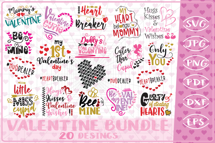 Valentine Bundle 11 Love Quotes Cutting FilesValentines Day