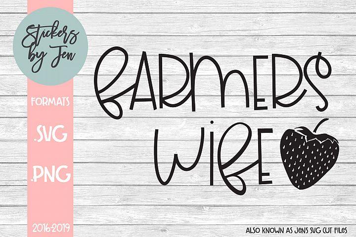 Farmers Wife SVG Cut File