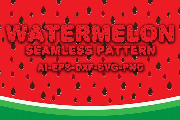 Seamless Patterns Watermelon