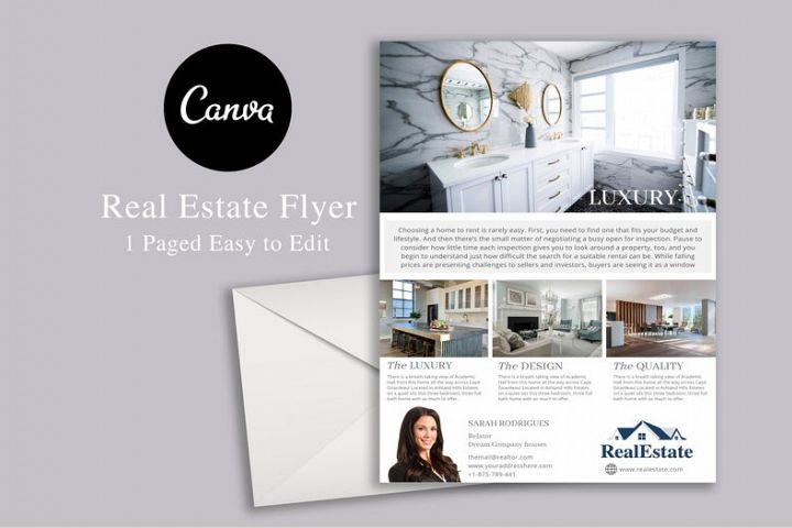 Real Estate Flyer, Canva