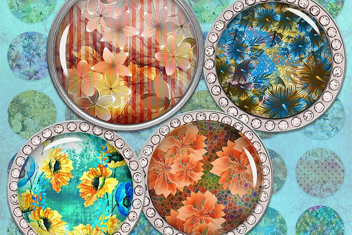 Flowers Printable Images,Flowers Circle Images,Download