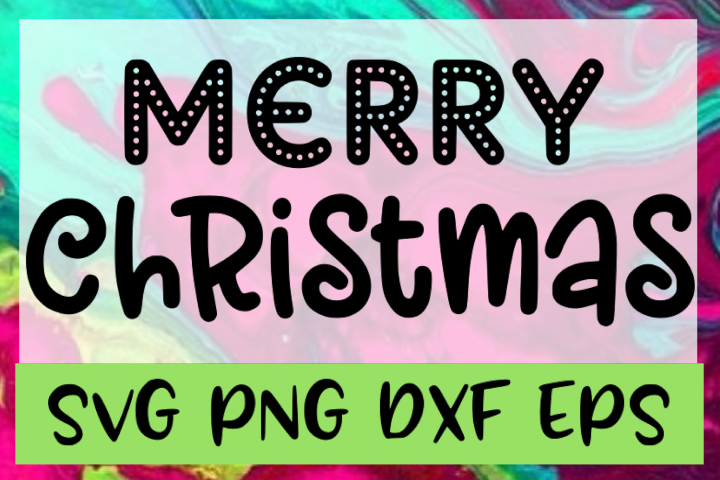 Merry Christmas SVG PNG DXF & EPS Design & Cut Files